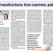 Infraestructura: tras cuernos, palos por Leonie Roca, presidenta de AFIN