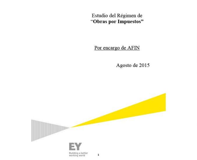"""Estudio del Régimen de """"Obras por Impuestos"""""""