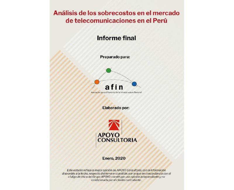 Análisis de los sobrecostos en el mercado de telecomunicaciones en el Perú – Informe final