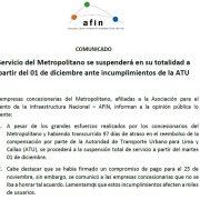 Servicio del Metropolitano se suspenderá en su totalidad a partir del 01 de diciembre ante incumplimientos de la ATU