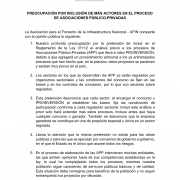 PREOCUPACIÓN POR INCLUSIÓN DE MÁS ACTORES EN EL PROCESO DE ASOCIACIONES PÚBLICO-PRIVADAS