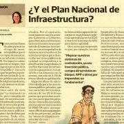 """""""¿Y el Plan Nacional de Infraestructura?"""" por Leonie Roca, presidenta de AFIN"""